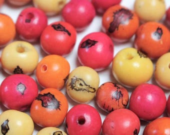 Mixed acai seed beads