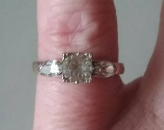 Clark and Coombs Antique Engagement Ring,  1930s Engagement Ring, Rolled Gold Engagement Ring
