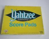 Vintage Yahtzee game score pads