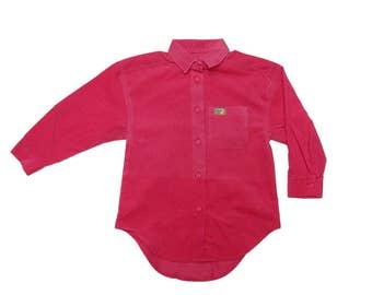 Vintage 90s Pink Corduroy Shirt  | 5 Years