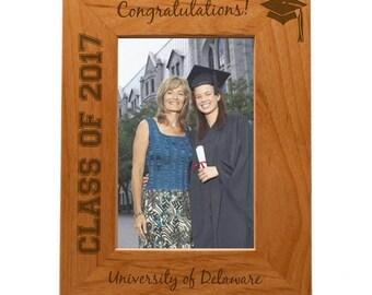 Engraved Custom 8x10 Graduation Photo Frame