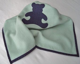Infant/Toddler Tiny Teddy Bear Soft Fleece Blankie