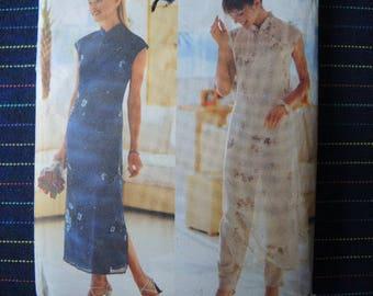 1990s Butterick sewing pattern 6057 David Warren UNCUT misses dress slip and pants size 8-10-12