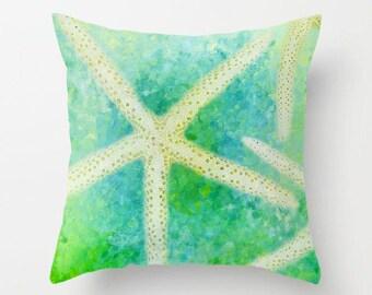 Starfish, Throw Pillow, Photo Pillow, Beach Pillow, Nature, Photography, Nautical, Cottage Decor