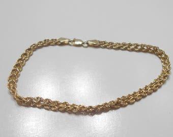 Gorgeous 10K Gold Tennis Bracelet (8107) 1.7 Grams (B)
