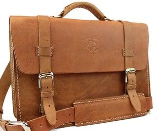 """Women's Leather Messenger Bag  Briefcase Laptop Satchel fits Macbook Pro 13"""" 295"""