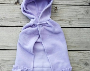 RTS size 9m -  Lavender Fleece Cape/Cloak Costume
