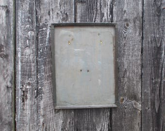 rustic antique pewter picture frame