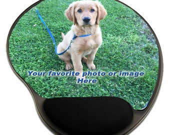 Mousepad with Wrist Rest, Personalized custom Design, Office Décor, Photograph, Artistic, Office Accessory
