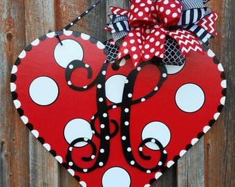 Valentine Door Hanger Personalized Door Hanger Valentine Decoration Home Decor Wooden Door Hanger Front Door Decor