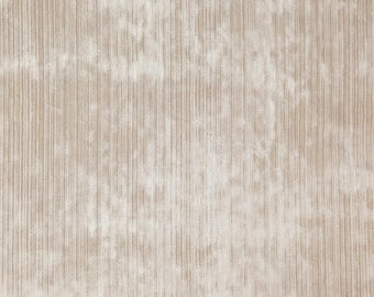 DESIGNER DELENA STRIE Velvet Fabric 10 Yards Oatmeal Cream