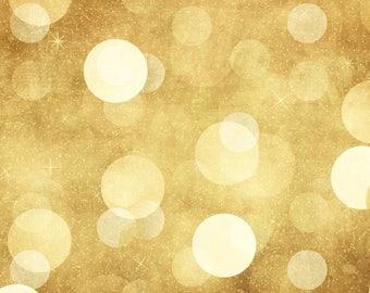 Gold Night Bokeh - Vinyl Photography  Backdrop Photo Prop