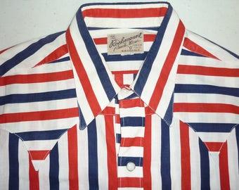 1950s Shirt / S - M / Rockmount Ranch Wear / American Flag / 1950s Western Shirt / Cowboy Shirt / Rockabilly Shirt / Mod / Biker / Stage
