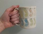 Sock Mug - stripes only- mulitcolour