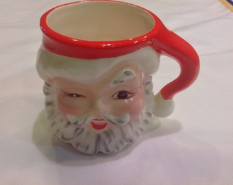 Winking Santa Mug - Numbered on the bottom