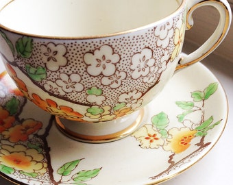 Vintage Grosvenor Fine China Cup and Saucer