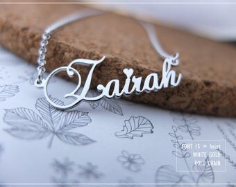 Name Necklace-Custom Name Necklace-Personalized Name Necklace-Custom Name Gift-Your Name Necklace-Bridesmaids Jewelry-Children Names #NF15H