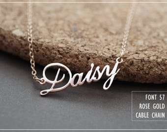 Personalized Name Necklace-Custom Name Necklace-Custom Name Gift-Your Name Necklace-Bridesmaids Jewelry-Children Names-Birthday Gift. #NF57