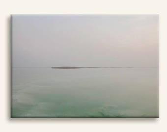 Sunrise at the Dead Sea photography print on canvas - Minimalist photography print gallery wrap canvas - housewarming gift