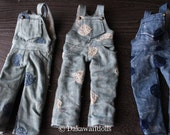 PRE-ORDER / Blythe Doll Outfit /  1/6 doll size /  Dots Denim Over-all /