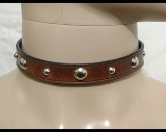 Studded Leather Choker