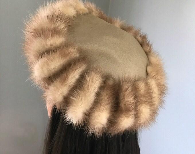 Vintage 40s Fox Fur Cap