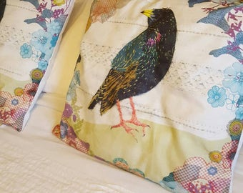 Starling cushion cover