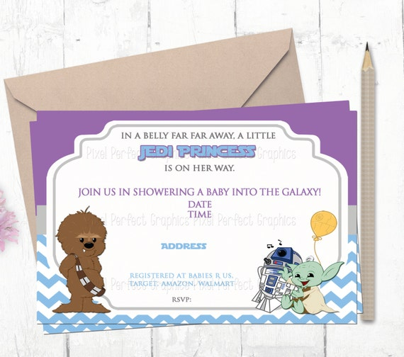 Sweets Courtesy Of Montreal Star Wars Birthday Invitation Card Digital By Items Similar To Jedi Themed Baby