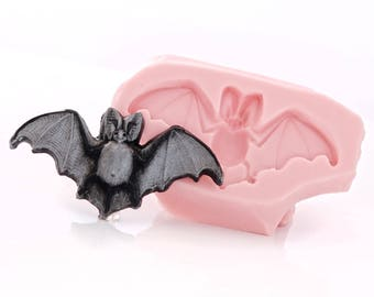 Bat Flexible Silicone Mold Use with Resin, Polymer Clays, Metal Clays, Food Safe, Fondant, Chocolate, Sugar Art, Candy, Gum Paste (401)