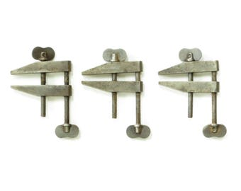 "Vintage 2"" Machinist Parallel Clamps - Steel Screw lamps - Vintage Tools - Old Steel Clamps - Boho Decor -"