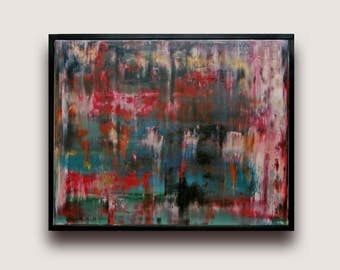 Abstract Oil Painting Canvas Modern Art Contemporary abstract Fine Art  Home Deco Wall hanging fine art Ready to Hang Abstract Uk artwork