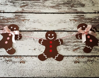 Gingerbread banner, gingerbread bunting, gingerbread garland, Christmas, Christmas banner, Christmas garland, Christmas bunting