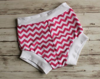 Baby Bloomers, Pink Shorties, Chevron Shorts, Bummies, Kid Shorts, Toddler Shorts, Bubble Shorts, Diaper Cover, Shorties, Coming Home Outfit
