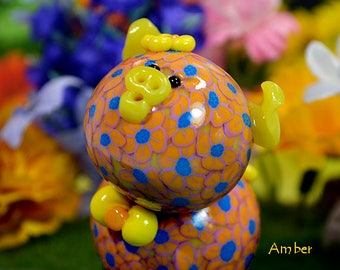 Amber Polymer Clay Piglet