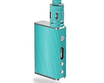 Smok SmokX Vape Vaporizer E-Cig Mod Box Vinyl DECAL STICKER Skin Wrap ONLY not actual vape/ecig / Teal Aqua Wavy Lines, 7857t49