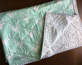 Mint Buck Forest Whole Cloth Quilt