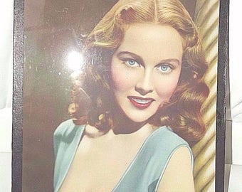 Vintage 1930's Framed Picture Actress Hazel Court