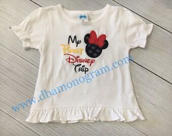 My 1st Disney Trip, Minnie Mouse Applique