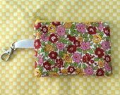 zippered coin purse with clasp