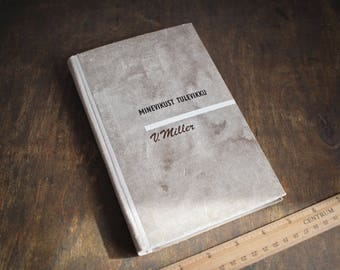 """Upcycled Journal Tartuensis Classic """"Rustic History"""", Hand-made from Discarded Book"""