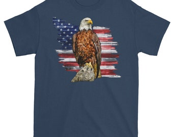 American Flag and Eagle T shirt