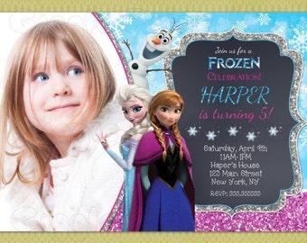Frozen Invitation, Frozen Birthday Invitation, Frozen Invitation, Elsa Invitation, DIY Printable , Elsa and Anna Invitations