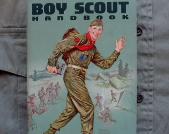 BOY SCOUT HANDBOOK  1963 * Boy Scouts of America * Norman Rockwell * Reference Guide