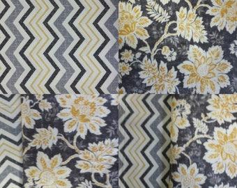 "Gold - Black - Grey - White Chevron Table Runner - Placemats - Flowers - Modern - 72"" - 84"" - 96"" - 106"" - Custom - Luxurious"