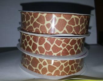 Giraffe Print Ribbon