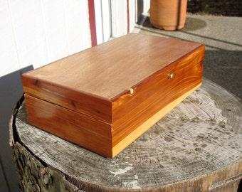 Jewelry Box, Nick Nack Box, made of cedar and mahogany with tung oil finish