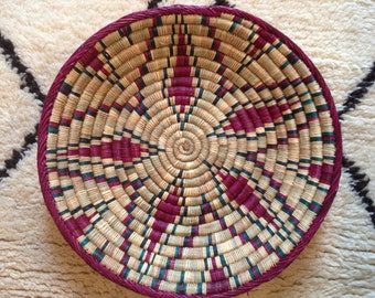 Large Hand Woven African Basket/Tray/Wall Decoration