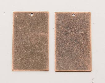 Metal Stamping Blanks Blank Charms Rectangle Charms Blank Charms Copper Blanks Bulk Charms Wholesale Charms Brass Blanks 50 pieces