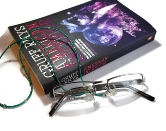 Green Glasses Chain - Sunglasses Chain -  Beaded Glasses Chain - Readers Gift - Gifts for Her - Holiday Gifts - Teacher Gifts