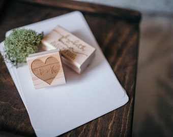 Heart Stamp, Save the Date Stamp, Custom Heart Rubber Stamp, Wedding Stamp, Wedding Favor Stamp, Custom Initials Stamp, Personalized Stamp